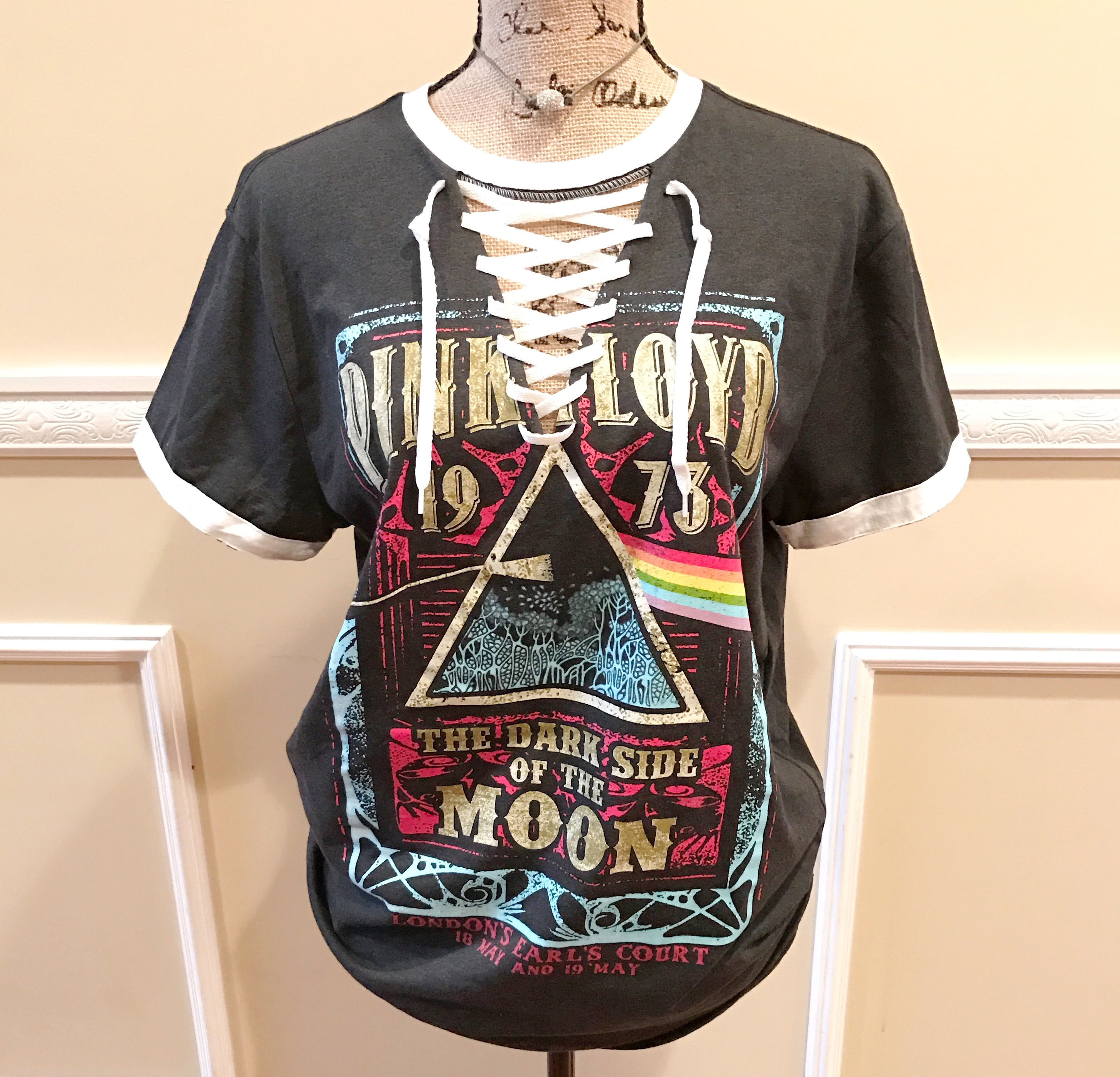 Pink Floyd Lace Up Band Tee Shirt – Royalty Boutique d64b52adf